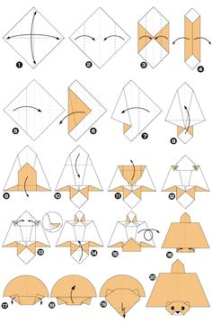 Flying squirrel origami craft.