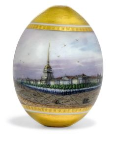 Antique Russian porcelain Easter Eggs - easter-eggs Photo