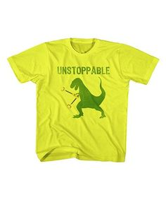 Love this Yellow 'Unstoppable' T-Rex Tee - Toddler & Kids on #zulily! #zulilyfinds