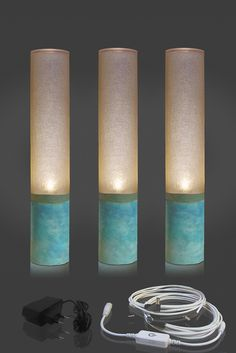 Modular lamp of Cylinder LED uplight lamp for atmosphere lighting. Great as Hygge lights , achieve cozy atmosphere for relaxing and reviving. Concrete Texture, Concrete Lamp, Lighting System, Cool Lighting, Lighting Ideas, Lamp Design, Diy Design, Design Ideas, Mood Light