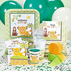 Sweet Circle Of Life Party Supplies // est ~$100 for paper products & decorations via Oriental Trading Co.