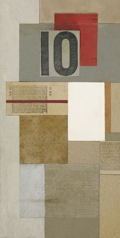 "grafurii: "" Ben Nicholson, BUS TICKET, 1942  Dedicated For Kurt Schwitters 1943 on the reverse. Oil and collage on wood relief on board """