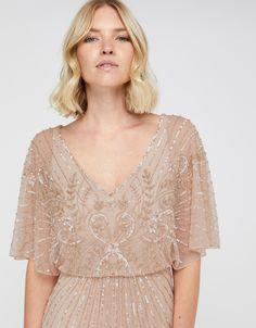 Tabitha Embellished Maxi Dress   Pink   UK 6 / US 2 / EU 34   7451131006   Monsoon Monsoon, Line Shopping, Perfect Party, Kids Fashion, Party Dress, Lace, Elegant, Stylish