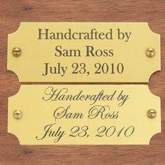 Buy Large Laser Engravable Name Plate Gold with Black Lettering at Woodcraft.com