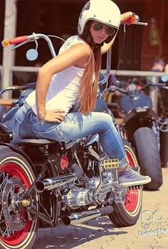 Girls on motorbikes