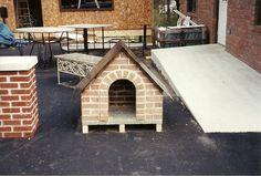 Brick dog house by Village Craft Iron & Stone, Inc.
