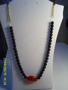 collar anastasia #3202  valor $5000 Anastasia, Chain, Red, Black, Jewelry, Fashion, Accessories, Moda, Jewlery