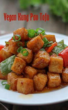 Vegan Kung Pao Tofu Didn't have black vinegar; substitute 1 part balsamic… Easy Soup Recipes, Veggie Recipes, Whole Food Recipes, Vegetarian Recipes, Cooking Recipes, Healthy Recipes, Cooking Rice, Tofu Dishes, Vegan Dishes
