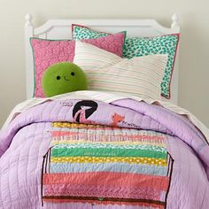 The Land of Nod | Girls Bedding: Princess and the Pea Quilt Bedding in Quilts & Blankets