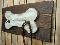 Dog Leash Holder Wall Organizer Rustic Home by RusticGateHome