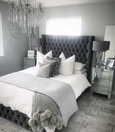 Home Remodel Bedroom .Home Remodel Bedroom Grey Bedroom Decor, Stylish Bedroom, Room Ideas Bedroom, Home Bedroom, Modern Bedroom, Master Bedroom, Ikea Bedroom, Grey Bedroom Design, Quirky Bedroom