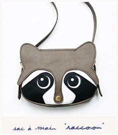 Raccoon bag / Leather bag / animal bag / Women Bags / Handmade / Leather Purse…