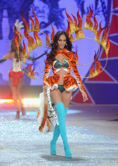 ab850f62fc Joan Smalls Photos - Model Joan Smalls walks the runway during the 2012  Victoria s Secret Fashion Show at the Lexington Avenue Armory on November  2012 in ...