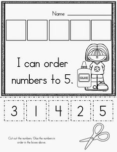 Beginning of kindergarten basic skills pack kids learning, learning numbers preschool, preschool cutting practice Numbers Preschool, Preschool Kindergarten, Preschool Learning, Teaching Math, Teaching Numbers, Learning Activities, Numbers Kindergarten, Number Activities, Preschool Lessons