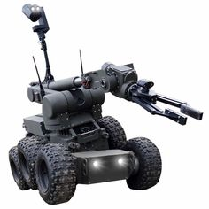 The Security Pro USA Rhino EOD Robot is designed for pyrotechnic operations and reconnaissance. Upon installation of additional devices, it can be used, among others, for disposal of dangerous objects, chemical detection and rescue operations. Military Robot, Hover Bike, Battle Bots, Mobile Robot, Small Drones, Outdoor Survival Gear, Security Training, Robot Design, Mechanical Design