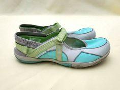 Merrell Women Barefoot River Glove Mary Jane Waterproof Vibram Ash Aqua Sz US 9 #Merrell #Barefoot