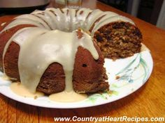 Country at Heart Recipes: Apple-Pecan Spice Cake