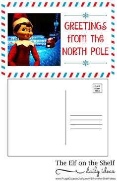 Free Elf on the Shelf Printable. Dozens of Great The Elf on the Shelf Ideas found on Frugal Coupon Living. Elf sends a postcard before his visit and arrives the special day in a package.