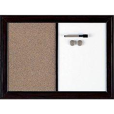 Quartet® Magnetic Combination Board, Espresso, 17in. x  23in. ~$21.99