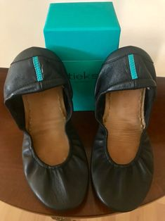 Matte Black Tieks in Size Worn a handful of times. Pet free and smoke free home. Will include Tieks box. Tieks By Gavrieli, Black Flats, Matte Black, Ballet Flats, Peep Toe, Size 10, Loafers, Pairs, Heels