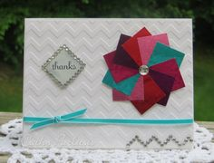 Thank You Card with Metal and Chevron with AALD Craft Metal from www.StampsAndScrapbooks.com