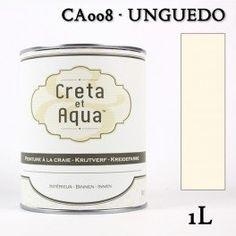 Krijtverf Creta et Aqua 1 Liter Unguedo Roomwit - Verven zonder te schuren.