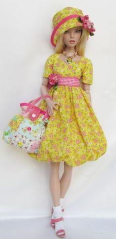 "Penelope's Springtime Sunshine for 16"" Tonner Deja Vu Made by Ssdesigns | eBay SOLD 4/26/14 $69.99"