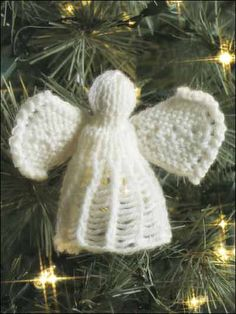 Special Occasion Knitting - Christmas Knitting Patterns - Angel Ornament II