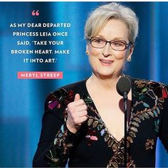 Carrie Fisher quote by Meryl Streep