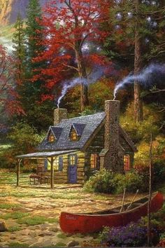 Travel Discover Gardens Discover Thomas KinkadeYou can find Thomas kinkade and more on our website. Beautiful Paintings, Beautiful Landscapes, Easy Paintings, Landscape Art, Landscape Paintings, Thomas Kinkade Art, Graffiti Kunst, Kinkade Paintings, Art Thomas