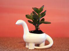 Porcelain Dinosaur Candeholder Planter 3d printed