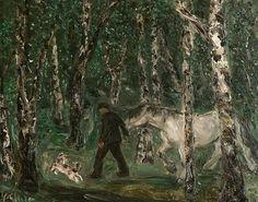 poboh:    Fra hestemarken på Dalen i Telemark, Harald Kihle. Norwegian (1905 - 1997)