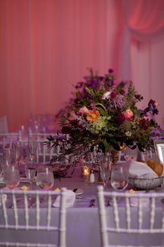 Lovely floral wedding centerpiece - perfect for a winter wedding! {@GloriaRuth}