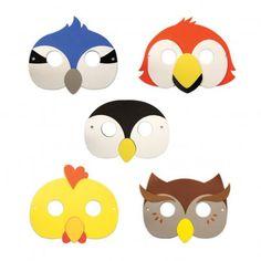 Birds face masks - set of 5  Kikkerland