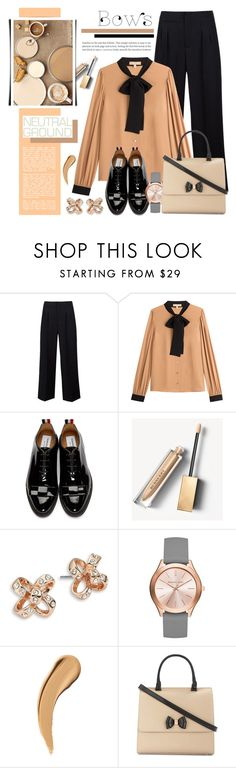"""Cool Neutrals & Bows"" by anyasdesigns on Polyvore featuring Maison Margiela, Michael Kors, Thom Browne, Burberry, Kate Spade and Ted Baker"