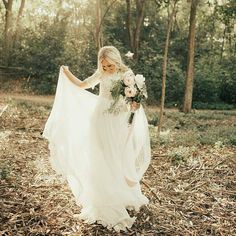 modest wedding dress with elbow length sleeves from alta moda. -- (modest bridal gown)
