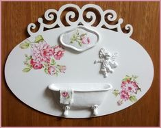 Plaquinha Oval Lavabo - Romantic