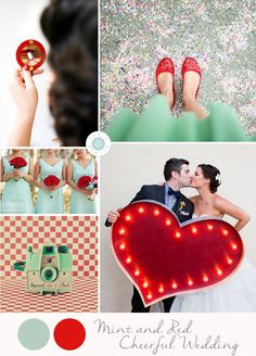 Colores para tu boda: Mint + Rojo | Wedding Planners Paris Berlin Bodas Barcelona -