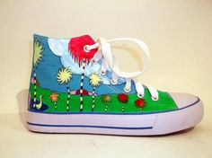 Hand Painted Sneakers - My Dream Baskets, Painted Sneakers, Kawaii, Chuck Taylor Sneakers, My Dream, Designer Shoes, Summer Fun, Fashion Art, Heeled Boots