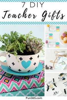 From Teacher Appreciation Week to end-of-school-year parties, these DIY teacher gift ideas are the perfect way to show teachers how much you appreciate them. Teacher Appreciation Week, Teacher Gifts, Diy Wedding Projects, Classroom Inspiration, Party Planning, Make It Simple, Parties, Gift Ideas, School