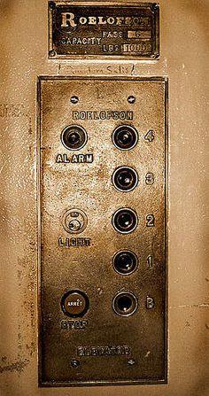 Antique Elevator Panel