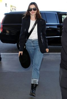 These practical shoes are the worst for travel, but these four airport-friendly shoes will keep you comfortable and stylish. Raf Simmons, Chanel Flats, Slip On Boots, Ugg Classic, Anne Hathaway, Airport Style, Black Ankle Boots, Who What Wear, Jet Set