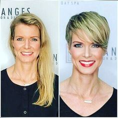 visit for more & After The post & After appeared first on kurzhaarfrisuren. Before After Hair, Before And After Haircut, Short Sassy Haircuts, Modern Haircuts, Long Hair Cut Short, Androgynous Haircut, Pelo Pixie, Hair Color For Women, Hair Transformation