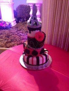 Paris themed quince/ sweetsixteen cake