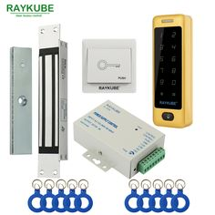 RAYKUBE Electric Magnetic Lock Access Control System Kit 180KG/280KG + Metal Touch FRID Keypad Security Door