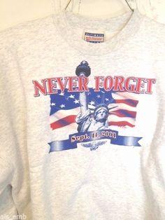 Sweatshirt Memory 9/11 Never Forget September 11 Statue Of Liberty Twin Tower #Hanes #Sweatshirt