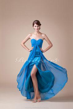Bridesire - Sirena A cuore Raso terra Senza maniche Chiffon vestito [BD4545] - €81.58 : Bridesire