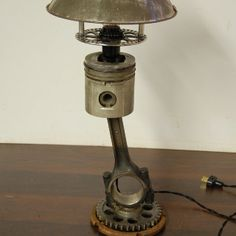 Piston lamp for the hubby.