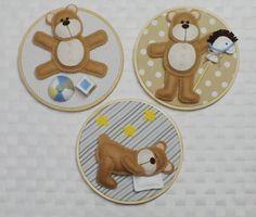 Quadrinhos urso ll O valor refere-se ao trio de quadros. R$ 96,00