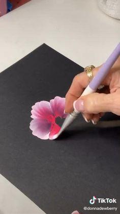 Canvas Painting Tutorials, Diy Canvas Art, Diy Painting, Acrylic Painting Flowers, Painting Flowers Tutorial, Art Painting Gallery, Art Drawings Sketches Simple, Diy Art, Watercolor Paintings